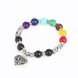 7 Chakra Healing Heart Bracelet