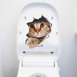 Cartoon Animal 3D Toilet Stickers