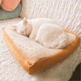 Cat Soft and Comfy Slice Bread Cushion