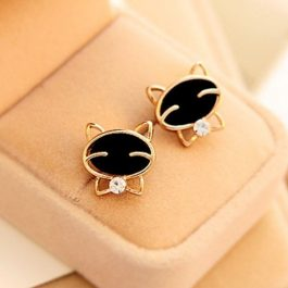 2019 Fashion Round Smile Cat Earrings