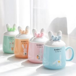 Cute bunny Ears Ceramics Coffee Mug