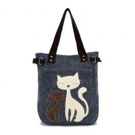 Cute Cat Shopping Multi Function Handbag